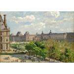 Puzzle  Grafika-Kids-01368 Camille Pissarro : Place du Carrousel, Paris, 1900