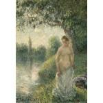 Puzzle  Grafika-Kids-01370 Pissarro Camille : La baigneuse, 1895