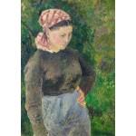 Puzzle  Grafika-Kids-01372 Camille Pissarro : Paysanne, 1880