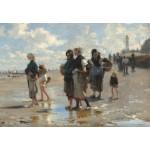 Puzzle  Grafika-Kids-01383 John Singer Sargent : En Route Pour la Pêche, 1878