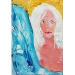 Puzzle  Grafika-Kids-01415 Pièces XXL - La Jeune Femme aux Cheveux Blancs