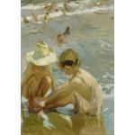 Puzzle  Grafika-Kids-01421 Joaquin Sorolla y Bastida : Le Pied Blessé, 1909