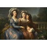 Puzzle  Grafika-Kids-01476 Louise-Élisabeth Vigee le Brun : La Marquise de Pezay et la Marquise de Rougé avec ses fils Alexis e