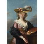 Puzzle  Grafika-Kids-01477 Elisabeth Vigée-Lebrun : Autoportrait au Chapeau de Paille, 1782