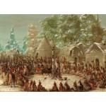 Puzzle  Grafika-Kids-01495 George Catlin : Fête de La Salle dans le village de l'Illinois. 2 janvier 1680, 1847-1848