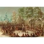 Puzzle  Grafika-Kids-01496 George Catlin : Fête de La Salle dans le village de l'Illinois. 2 janvier 1680, 1847-1848