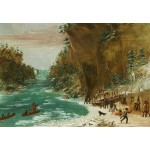 Puzzle  Grafika-Kids-01497 George Catlin : Campement de l'Expedition au-dessous des Chutes de Niagara. Le 20 janvier 1679, 1847