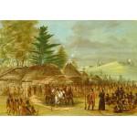 Puzzle  Grafika-Kids-01499 George Catlin : Chef des Indiens de Taensa recevant La Salle le 20 mars 1682, 1847-1848