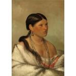 Puzzle  Grafika-Kids-01500 George Catlin : Femme Aigle - Shawano, 1830