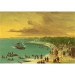 Puzzle  Grafika-Kids-01502 George Catlin : Première navigation du voilier Griffin sur le Lac Erie le 7 août 1679, 1847-1848