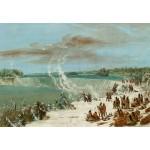Puzzle  Grafika-Kids-01504 George Catlin : Portage Autour des chutes de Niagara à Table Rock, 1847-1848