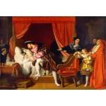 Puzzle  Grafika-Kids-01506 Jean-Auguste-Dominique Ingres : François Ier reçoit les derniers soupirs de Léonard de Vinci, 1818