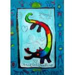 Puzzle  Grafika-Kids-01737 Pièces magnétiques - Anne Poiré & Patrick Guallino - Loup Heureux
