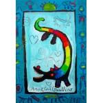 Puzzle  Grafika-Kids-01739 Pièces XXL - Anne Poiré & Patrick Guallino - Loup Heureux