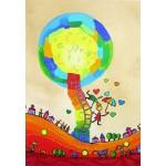 Puzzle  Grafika-Kids-01755 Anne Poiré & Patrick Guallino - Les Ombrelles du Bonheur