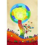 Puzzle  Grafika-Kids-01758 Pièces XXL - Anne Poiré & Patrick Guallino - Les Ombrelles du Bonheur