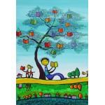 Puzzle  Grafika-Kids-01773 Pièces XXL - Anne Poiré & Patrick Guallino - D'une Feuille l'Autre