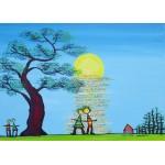 Puzzle  Grafika-Kids-01781 Pièces magnétiques - Anne Poiré & Patrick Guallino - Ecrit dans le Ciel