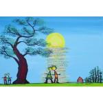 Puzzle  Grafika-Kids-01783 Pièces XXL - Anne Poiré & Patrick Guallino - Ecrit dans le Ciel