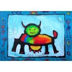 Puzzle  Grafika-Kids-01810 Anne Poiré & Patrick Guallino - Vache Radieusement Arc-en-ciel