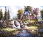 Puzzle  Grafika-Kids-01845 Dennis Lewan - Alpine Falls
