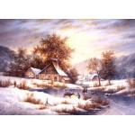 Puzzle  Grafika-Kids-01857 Pièces magnétiques - Dennis Lewan - Amber Sky Of Winter
