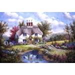 Puzzle  Grafika-Kids-01864 Pièces XXL - Dennis Lewan - Swan Creek Cottage