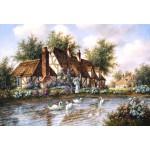 Puzzle  Grafika-Kids-01869 Pièces XXL - Dennis Lewan - Admiring The Swans
