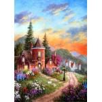 Puzzle  Grafika-Kids-01902 Pièces magnétiques - Dennis Lewan - Castle Ridge Manor
