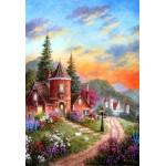 Puzzle  Grafika-Kids-01904 Pièces XXL - Dennis Lewan - Castle Ridge Manor