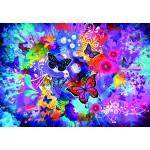 Puzzle  Grafika-Kids-02013 Fleurs et Papillons Colorés