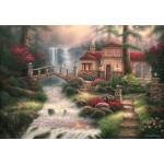 Puzzle  Grafika-Kids-02030 Chuck Pinson - Sierra River Falls
