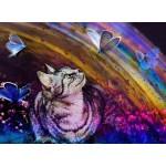 Puzzle  Grafika-Kids-02055 Le Chat et les Papillons