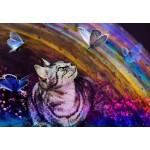 Puzzle  Grafika-Kids-02056 Le Chat et les Papillons