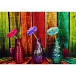 Puzzle  Grafika-Kids-02057 Vases Fleuris et Colorés