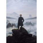 Puzzle  Grafika-Kids-02115 Caspar David Friedrich - Der Wanderer über dem Nebelmeer, 1818