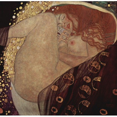 Puzzle Grafika-00013 Gustav Klimt : Danaé, 1907-1908