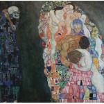 Puzzle  Grafika-00014 Gustav Klimt : La Vie et la Mort, 1916