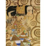 Puzzle  Grafika-00021 Gustav Klimt : L'attente (détail) 1905-1909