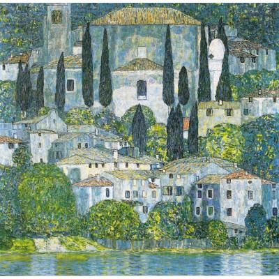 Puzzle Grafika-00032 Gustav Klimt : Eglise de Cassone, 1913