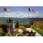 Puzzle  Grafika-00036 Claude Monet : Terrasse à Sainte-Adresse, 1867