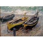 Puzzle  Grafika-00045 Claude Monet : Trois bateaux de Pêche, 1886