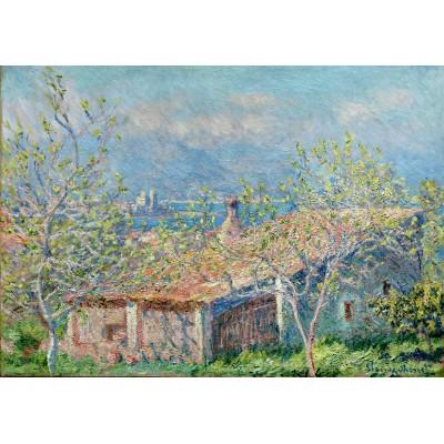 Puzzle Grafika-00049 Claude Monet : La Maison du Jardinier à Antibes, 1888