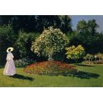 Puzzle  Grafika-00055 Claude Monet : Dame en Blanc au Jardin, 1867