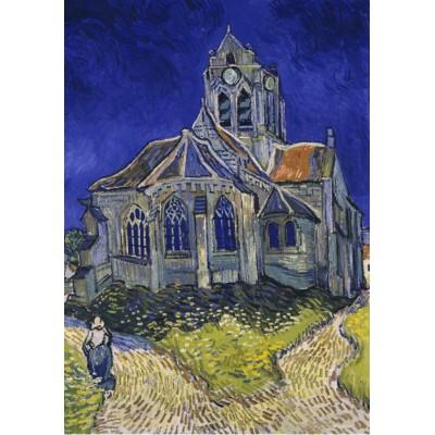 Puzzle Grafika-00061 Vincent Van Gogh : L'église d'Auvers-sur-Oise, 1890