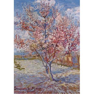 Puzzle Grafika-00068 Vincent Van Gogh : Pêcher en fleur, Souvenir de Mauve, 1888