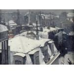 Puzzle  Grafika-00077 Gustave Caillebotte : Vue de toits (Effet de neige), 1878-1879