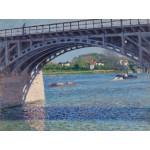 Puzzle  Grafika-00078 Gustave Caillebotte : Le Pont d'Argenteuil, 1883