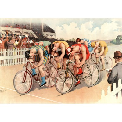 Puzzle Grafika-00089 Illustration - Course Cycliste, 1895