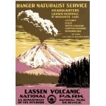 Puzzle  Grafika-00092 Affiche pour Le Parc National Volcanique de Lassen, USA, 1938